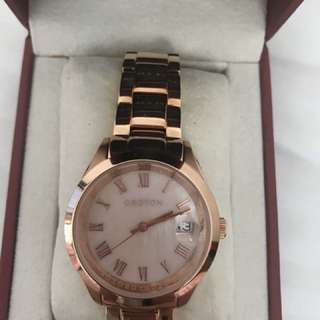 NEW GENUINE OROTON ROSE GOLD WATCH