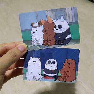 [INSTOCK] BN WBB We bare bear Ezlink/ Concession card matte surface stickers