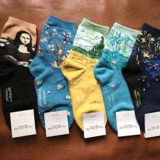 RESTOCK ALERT! Van Gogh Artwork Socks