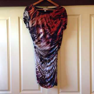 Witchery Printed Jersey Dress Size M