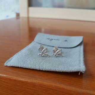 Agnes b 純銀耳環