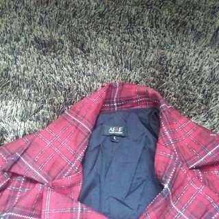 Long coat / long blazer tartan