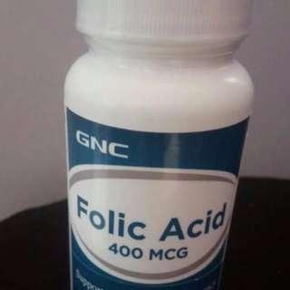 全新 GNC Folic Acid 400mcg 葉酸400 1樽