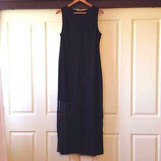 Floor Length Black Dress Size 10