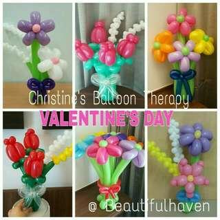 VALENTINE BALLOON FLOWER BOUQUET