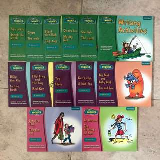 18 Phonics books by Oxford