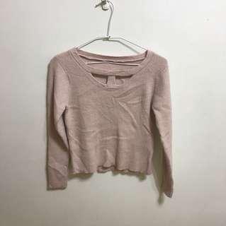 🚚 超舒服粉膚色 貼身 顯身材針織毛衣