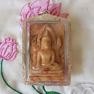 Phra Chinnarat (Arahants Relics) - Kruba Duang Dee (pure silver casing)