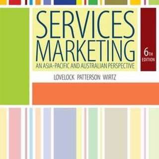 Services Marketing - An Asia Pacific and Australian Perspective Textbook