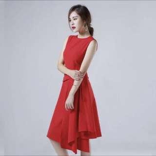 連身裙 紅色
