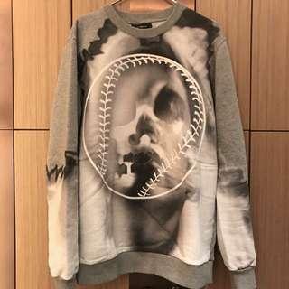 Givenchy [RUNWAY] baseball print oversized sweater (size S)