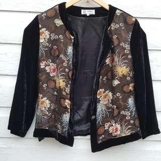 Velvet Asian Print Jacket