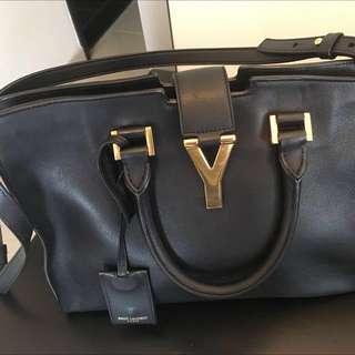 Saint Laurent Petit Cabas Y small leather tote
