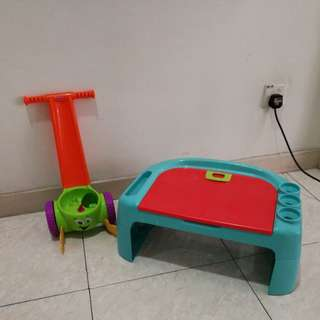 Children doodle table & walking toys