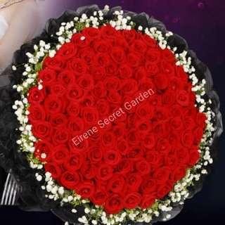 Flower Bouquet 99 Stalks
