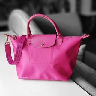 Authentic Longchamp Le Pliage Pink Neo
