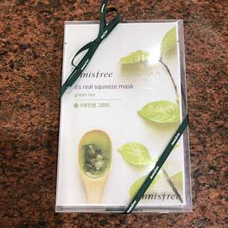 Innisfree its real squeeze mask green tea (10+2)