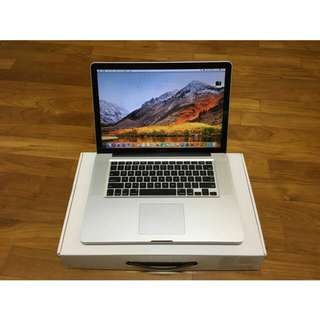 Great Condition MacBook Pro 15-inch Mid 2012 with Full set