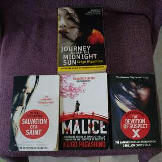 Keigo Higashino Assorted Book Titles