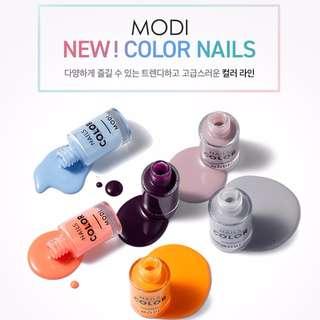 🚚 韓國MODI 新上市新色color系列指甲油〞『韓妝代購』〈現貨+預購〉