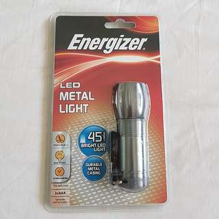 Energizer LED metal Light Brand new still sealed in plastic package. Energizer LED Metal casing torch light (fixed price)