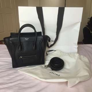 Authentic Celine Nano Luggage Tote