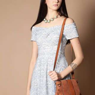(BN) The Stage Walk Sharlyn Lace Off Shoulder Dress In Mint Size M (UP:$35.90)