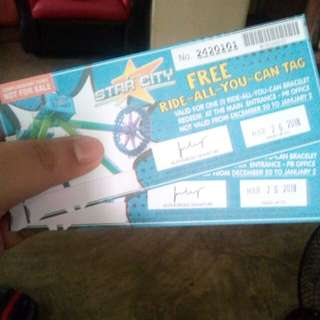 Star City Complimentary RAYC Tickets