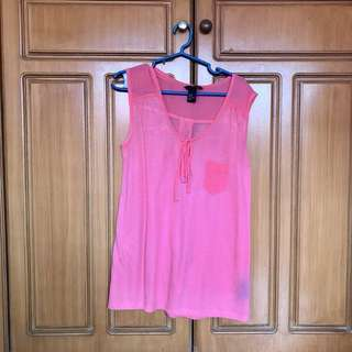 H&M Pink Sleeveless Top