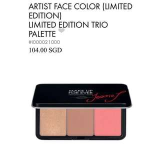 MAKEUPFOREVER x Jessie J limited edition contour highlight palette