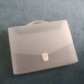 Muji Transparent briefcase