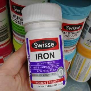 澳洲Swisse iron補鐵補血營養片孕產婦貧血補血30粒