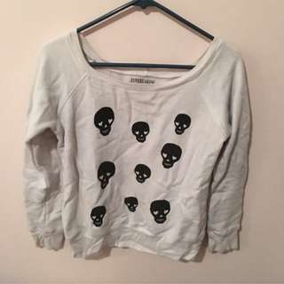 Jawbreaking skull sweater