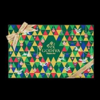 Godiva聖誕片裝巧克力禮盒15片裝