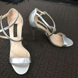 Silver forever new heels