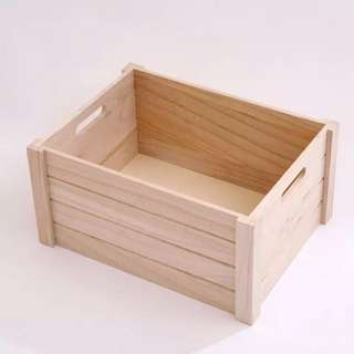 Wooden crate storage for home use or decor