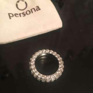 Persona Crystal Band Ring