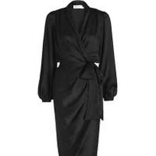 Zimmermann sueded silk wrap robe