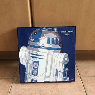 R2D2 Star Wars artwork print