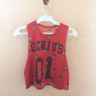 Genius 01 crop top