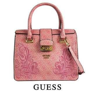 GUESS SIGNATURE LOGO SATCHEL