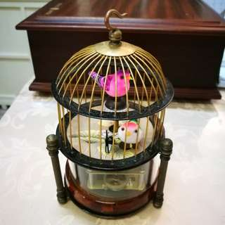 Antique Bird Cage Mechanical Clock