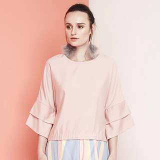 Mimpikita Solid Allegra Top in Pink