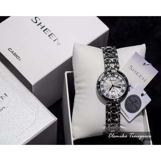 "CASIO SHEEN ""SHE-4033D-7AUDR""(Casio SHEEN人氣女裝手錶系列/簡約典雅羅馬時刻優雅迷人/Swarovski® Crystals/SHE-4033D-7AU/7A/7)(可簽卡/$1000以上可分期/現金交易優惠)12/10"