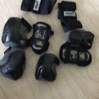 Wrist, elbow and knee guard for inline skating