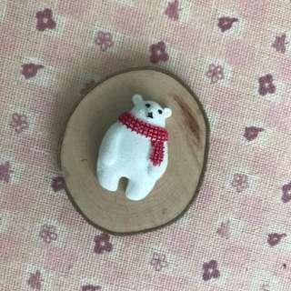 Miji wood slice magnet polar 5cm