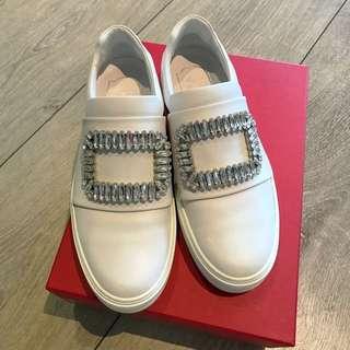 Roger Vivier Crystal Buckle Sneakers