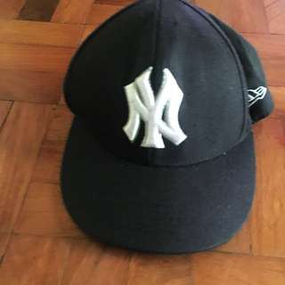 New Era New York NY black cap