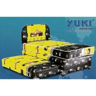 Preloved - Yuki Spring Bed 2in1 + Bonus Meja TV
