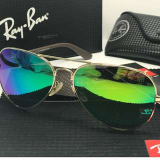 SunglassesRB8313Polarized&& Rayban₄Aviator Glod/Green BN 001/51 61mm